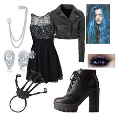 """Punk Homecoming/Prom"" by callingallhustlers ❤ liked on Polyvore featuring Glamorous, French Connection, Ally Fashion, Charlotte Russe and BERRICLE"