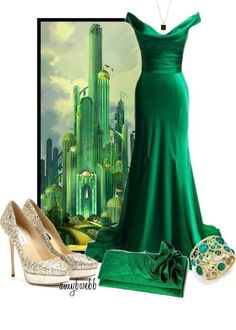 Wizard of Oz Emerald City inspired look