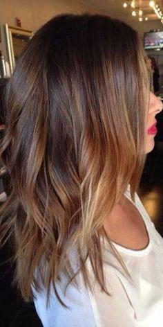 Dark Brunette Balayage Medium Hairstyle