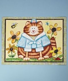 Very nice Debra Jordan Bryan cat dishwasher magnet!