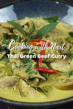 Easy Thai Green Beef Curry made in less than 30 minutes. It's creamy, full of flavor, beef and eggplant. Perfect with steamed rice or fermented rice noodles! #ThaiGreenCurry #GreenCurryRecipe #BeefGreenCurry #GreenCurryBeef #ThaiGreenBeefCurry #EasyDinner #30MinuteDinner #QuickDinner #EasyThaiRecipe #EasyThaiCurry #ThaiFood #สูตรแกงเขียวหวานเนื้อ #สูตรอาหารไทย