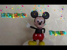 ▶ Mickey Mouse in fondant tutorial Come fare Topolino in pasta di zucchero - YouTube