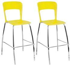 yellow bar stools