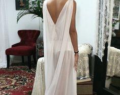 Bruids Nachthemd Satin uit witte bruiloft door SarafinaDreams