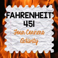 In This Pre Reading Activity For Fahrenheit 451 Students Will Answer Thematic Questions About