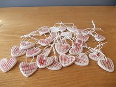 70 Ceramic Heart Gift Tags / Wedding FAVORS / by CERAMICSbyVITA