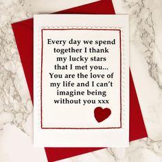 Valentines Card 'Lucky Stars'