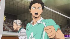 is typing. Gosh this is cute 😌❤️ Iwaizumi Hajime, Iwaoi, Oikawa, Kuroo, Kageyama, Nishinoya, Haikyuu Anime, Haikyuu Season 2