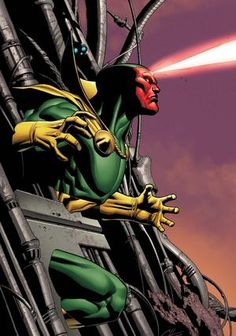Comic Books:Vision is the android member of the Avengers, he can phase through walls and disrupt electrical equipment.