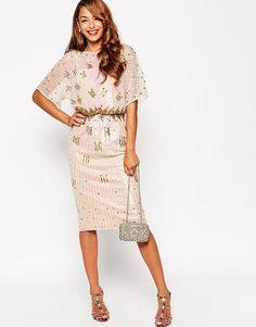 Love kimono sleeve maxi dress asos