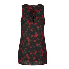 Tie-Up Front Shift Dress by Glamorous Petites (825 CZK) ❤ liked on Polyvore featuring dresses, multi, botanical dress, floral shift dress, floral printed dress, topshop and floral print shift dress