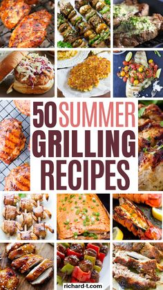 These 50 easy grilling recipes look so delicious! I am so glad I found these, and hopefully you can all enjoy these too! Grilling recipes are needed this summer, so make sure you check these out! Pork Ribs Grilled, Smoked Pork Ribs, Grilling Recipes, Cooking Recipes, Grilling Ideas, Steak With Blue Cheese, Glazed Pork Chops, Tomato Relish, Grilled Seafood