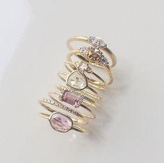 Vale Jewelry Françoise, Tidals, Trinity, Sapphire Slice, PS and Pavé Diamond Arc Rings