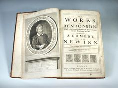 Sale B020415 Lot 328  JONSON (Ben) The Works, to which is added a Comedy called the New Inn, London 1692, folio, portrait frontispiece, title possibly associated, occasional browning or spotting, binding tight, rebacked old calf  - Cheffins