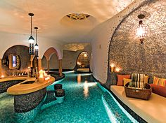 Indoor bar/pool/living area. This is a MUST.