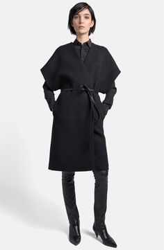 Main Image - Saint Laurent Wool Blend Kimono Wrap Coat
