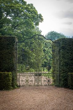 landscape architect Sir Geoffrey Jellicoe revitalises these timeless, Dorset gardens thirty years after he initially designed them. Garden Wall Designs, Garden Design, Dorset Garden, Wrought Iron Gates, Diy Garden Projects, Garden Stones, Garden Gates, Landscape Architecture, Landscape Designs