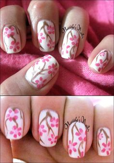 Flowers by Natiitha - Nail Art Gallery nailartgallery.nailsmag.com by Nails Magazine www.nailsmag.com #nailart