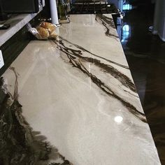 This Metallic Marble Epoxied Countertop is incredible ! … This Metallic Marble Epoxied Countertop is incredible !