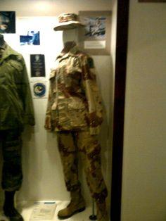 our uniforms during Desert storm.   (female desert uniforms)