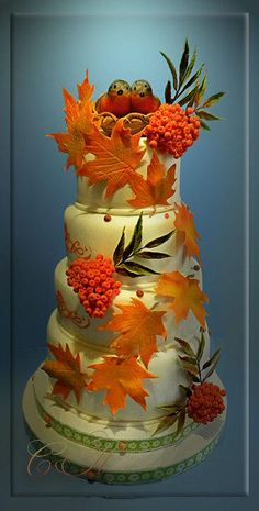 Autumn Wedding Cake - Cake by Svetlana