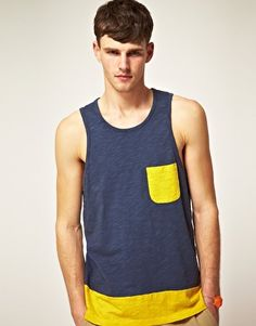 Enlarge ASOS Vest With Cut And Sew Panels