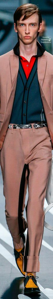 Prada – Spring 2018 Menswear Prada Spring, Prada Men, Menswear, Mens Fashion, Pants, Style, Men Fashion, Trouser Pants, Man Fashion