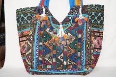 Patchwork bag large shoulder bag tribal handbag boho bag