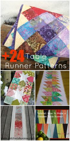 24+ Table Runner Patterns