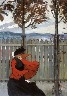 Théophile-Alexandre Steinlen, Le coup de vent, 1895.  (via: doctorconquest)