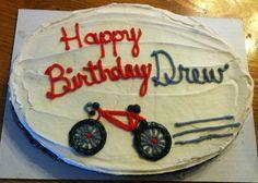 Bicycle birthday cake.
