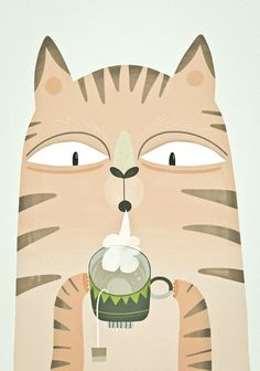 hot hot tea! Art Print