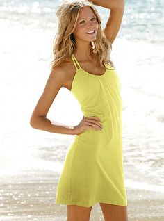 halter dress with built in support - VS