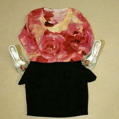New York & Company sweater Fushia and light orange floral designed cardigan.   Light weight.  Six buttons and 3/4 sleeves.  Never worn. New York & Company Sweaters