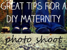 Great tips for a DIY maternity photo shoot.