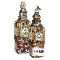 Big Ben Christmas Ornament 20058 Merck Family Old World Christmas - great keepsake for the Royal Birth - available at www.trendytree.com
