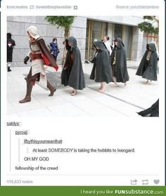 koncreates howisthispiausible pSource:yusufdaistanboosaldvs:pvroaj:ifbvthisvoumeanthat:At least / hobbit :: assassin's creed :: lord of the rings :: movie :: tv :: isengard :: geek :: games / funny pictures & best jokes: comics, images, video, humor, gi Lotr, Arte Assassins Creed, Fangirl, O Hobbit, Hobbit Funny, Into The West, Legolas, Gandalf, Middle Earth