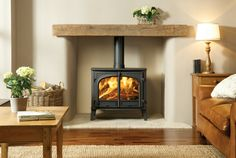Most current Images floating Fireplace Hearth Thoughts Top five benefits of a free standing wood burner Wood Burner Fireplace, Home Fireplace, Living Room With Fireplace, Fireplace Surrounds, Fireplace Design, New Living Room, Living Room Decor, Fireplace Ideas, Gas Stove Fireplace