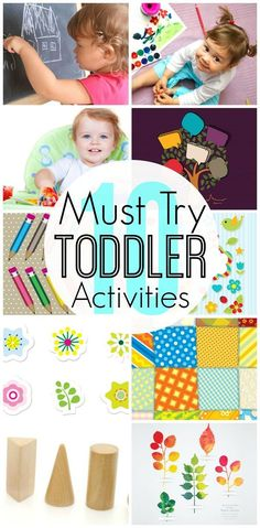 Toddlers Activities: Even the most adventurous toddler love to sit still (at least for some time!) and play with an art or craft activity.Click to See Top 10 Art and Craft Ideas for your #Toddler