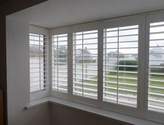 Furnish your home with our aluminium bathroom shutters & kitchen shutters. Durable and versatile, our aluminium shutters newcastle can be installed on the Bay Window Bedroom, Bay Window Decor, Kitchen Shutters, Bay Window Living Room, Interior Window Shutters, Interior Windows, Bedroom Nook, Window Grill Design Modern, Lounge