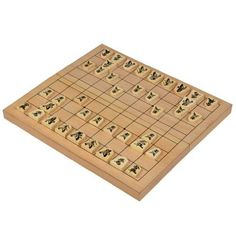 Wooden Shogi Japanese Chess Game Set with 125 Folding Inch Board and Linden Wood Playing Pieces -- See this great product.