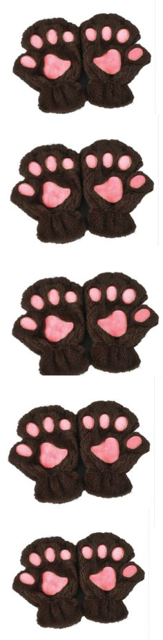 Cat Paw Claw Fingerless  Half Gloves! Click The Image To Buy It Now or Tag Someone You Want To Buy This For. #Cats