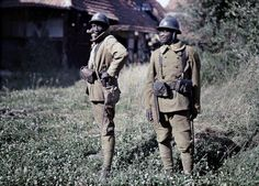 Senegalese Bambara soldiers serving with the French Army in Balschwiller, Alsace.