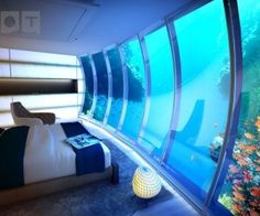 Not exactly the cheapest hotel in Dubai, the Water Discus is nevertheless the most unique. As the world's biggest underwater hotel, it's also the only Dubai hotel that offers views of the ocean floor! Dubai Hotel, In Dubai, Hotel Subaquático, Dubai Uae, Visit Dubai, Hotel Stay, Underwater Hotel Room, Underwater Sea, Underwater Restaurant