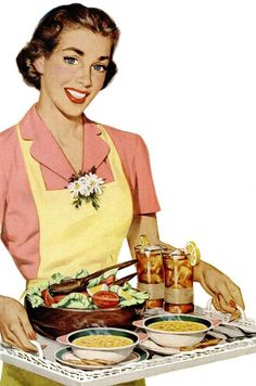 retro....I believe this to be a young Betty Crocker......per my memory.