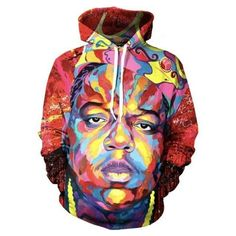 Pkorli New Fashion Hoodie Hip Hop Character Tupac Shakur Printed Sweatshirt Men/Women Harajuku Hoodies Unisex Hoody Biggie Smalls Hoodie, 2pac Hoodie, Harajuku, Graffiti Doodles, Cotton Pictures, Style Streetwear, Hip Hop, Worlds Best Tattoos, Face Men
