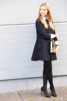 Business Chic - Poppies and Cornflowers Business Chic, My Outfit, Poppies, Tights, Outfits, Beautiful, Style, Fashion, Navy Tights