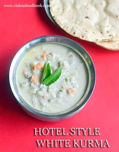 Hotel Saravana bhavan white kurma recipe for idiyappam, appam and chapathi. It is known as vellai kurma in Tamil which is made with vegetables and coconut. Veg Dinner Recipes, Vegetarian Breakfast Recipes, Veg Recipes, Indian Food Recipes, Cooking Recipes, Recipies, Ethnic Recipes, Veg Kurma Recipe, Cooking Whole Chicken