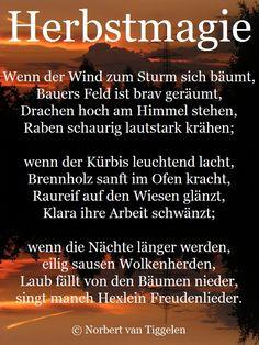 Herbst, Van Tiggelen, Gedichte, Menschen, Leben, Weisheit, Welt, Erde, Gesellschaft, Gefühle, Grüße, Erinnerungen,
