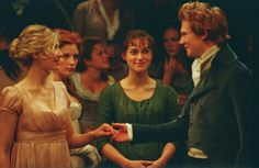 Jane, Caroline Bingley, Lizzie & Mr. Bingley
